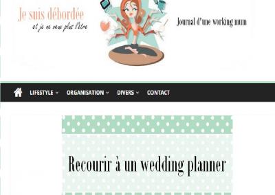 """<a href=""""http://www.jesuisdebordee.com/2016/05/recourir-a-un-wedding-planner-pour-son-mariage/"""" target=""""_blank"""">Je suis débordée - Mai 16</a>"""