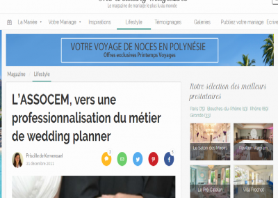 "<a href=""http://www.zankyou.fr/p/assocem-professionnalisation-metier-wedding-planner"" target=""_blank"">Zankyou - Décembre 11 </a>"