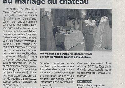 <a> Le Salon du Mariage au Château de Villier le Mahieu - Décembre 16</a>