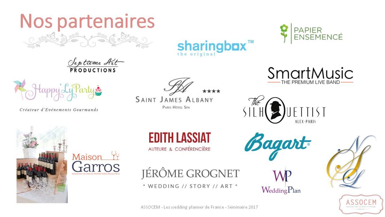 partenaires seminaire wedding planner 2017