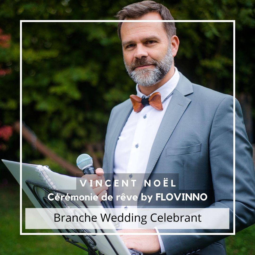 Vincent Noel Officiant Responsable branche Wedding Celebrant ASSOCEM